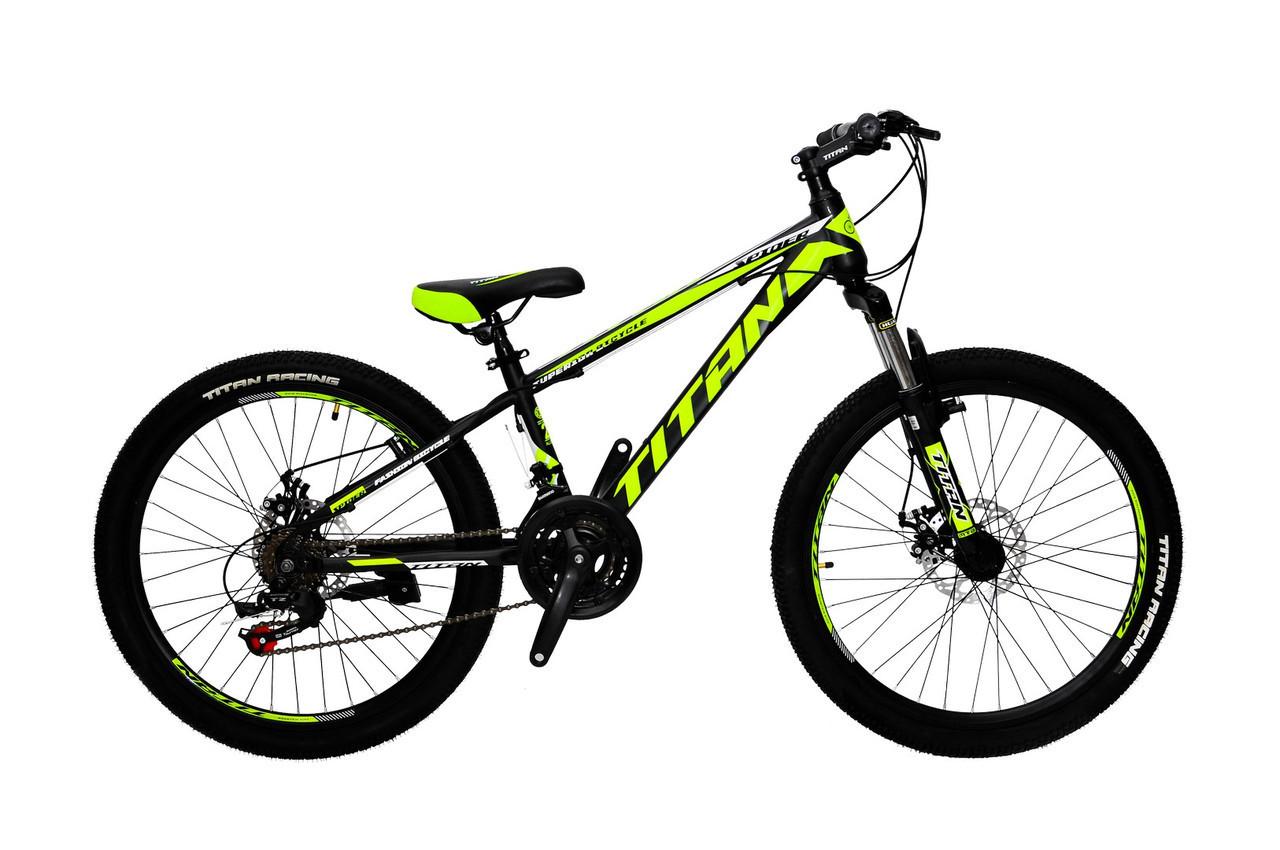 🚲Подростковый стальной велосипед TITAN SPIDER  (21 speed, Shimano, полуавтоматы); рама 12; колеса 24
