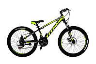 🚲Подростковый стальной велосипед TITAN SPIDER  (21 speed, Shimano, полуавтоматы); рама 12; колеса 24, фото 1