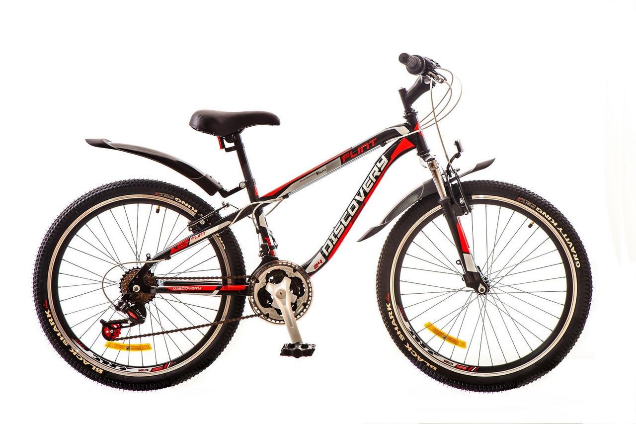 🚲Подростковый стальной горный велосипед Discovery FLINT AM 2017; колеса 24