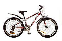 🚲Подростковый стальной горный велосипед Discovery FLINT AM 2017; колеса 24, фото 1