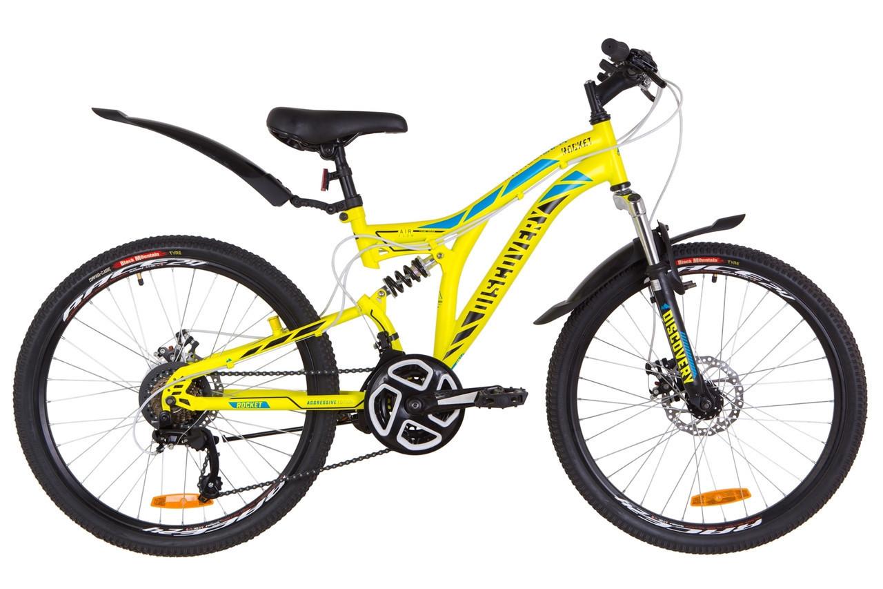🚲Подростковый стальной горный велосипед Discovery ROCKET DD 2019; рама 15; колеса 24