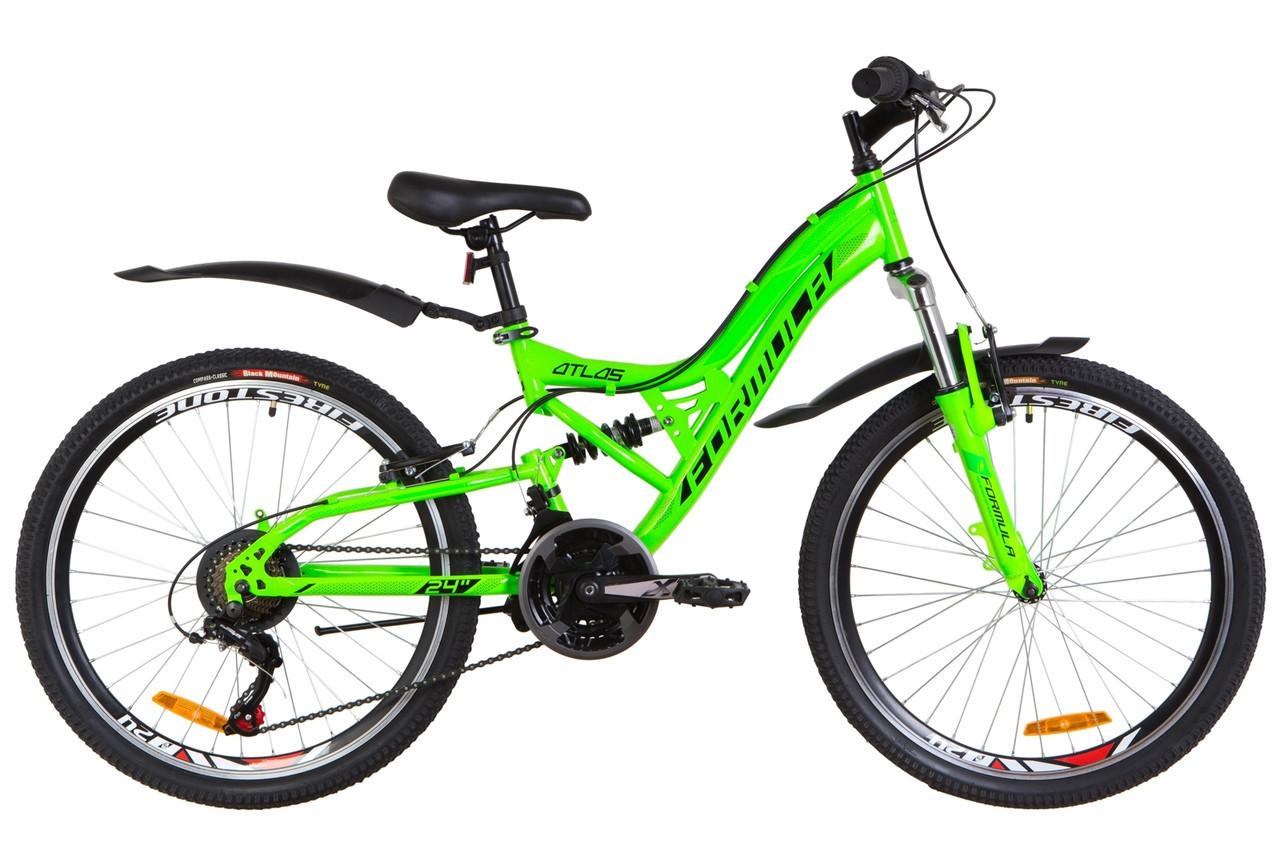 🚲Подростковый стальной горный велосипед Formula ATLAS (Shimano, 21 speed); рама 14; колеса 24