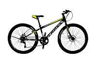 🚲Подростковый стальной горный дисковый велосипед CROSS LEGION ( Shimano, полуавтоматы); рама 11; колеса 24, фото 1