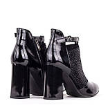 Женские кожаные ботинки  Anna Lucci F521-0806-N425B BLACK LAK, фото 3