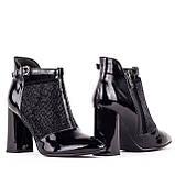 Женские кожаные ботинки  Anna Lucci F521-0806-N425B BLACK LAK, фото 2
