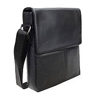 Мужской кожаный мессенджер Borsa Leather 1t8870-black