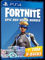 Fortnite Neo Versa + 2000 V-Bucks игровой валюты (В-баксов, вабаксы) для Playstation 4/PS4