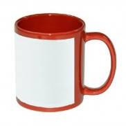 Чашка сублимационная цветная с полем 330 мл (Красный)