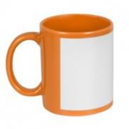 Чашка сублимационная цветная с полем 330 мл (Оранжевый)