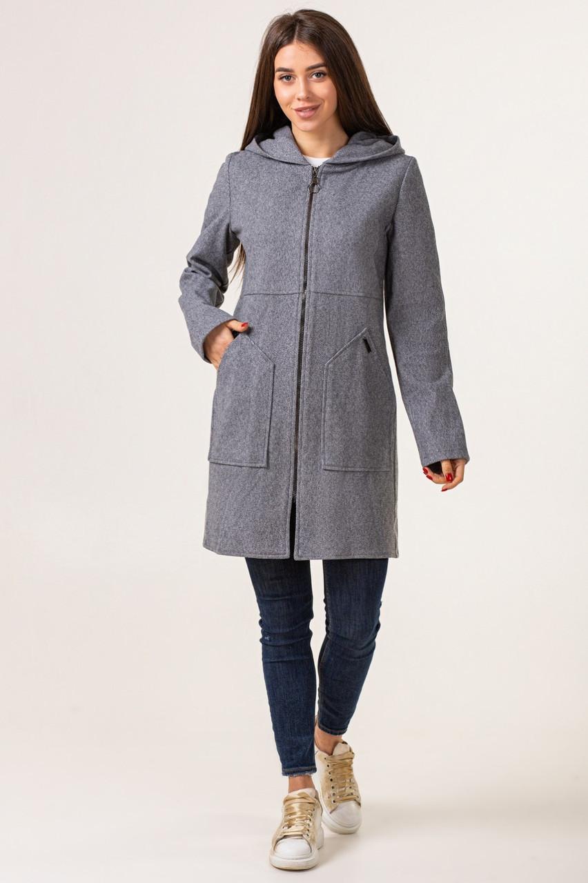 Теплий кардиган жіночий модний 42-48 темно-сірий