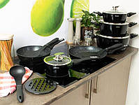 Набор посуды Edenberg  Black Metallic Line - 15 предметов, фото 6