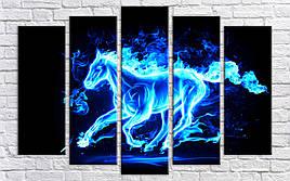 Картина модульная HolstArt Пламенная лошадь 85*130см 5 модулей арт.HAB-188