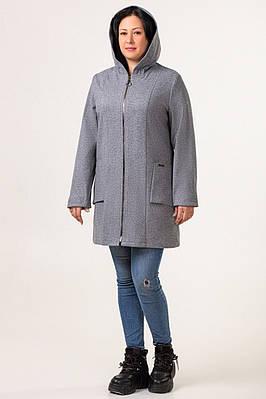 Кардиганы больших размеров женский теплый 50-58 серый