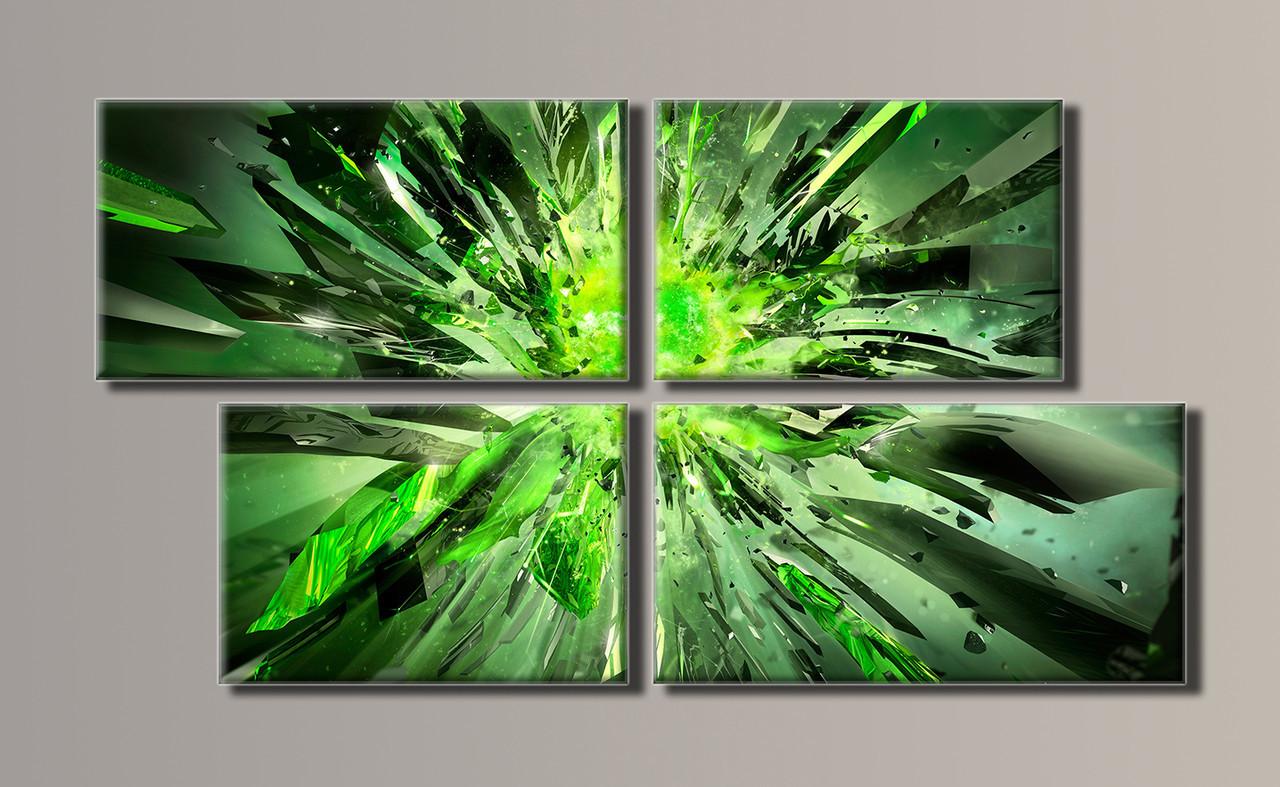 Картина модульна HolstArt Абстракція вибух 50*93см 4 модуля арт.HAF-028