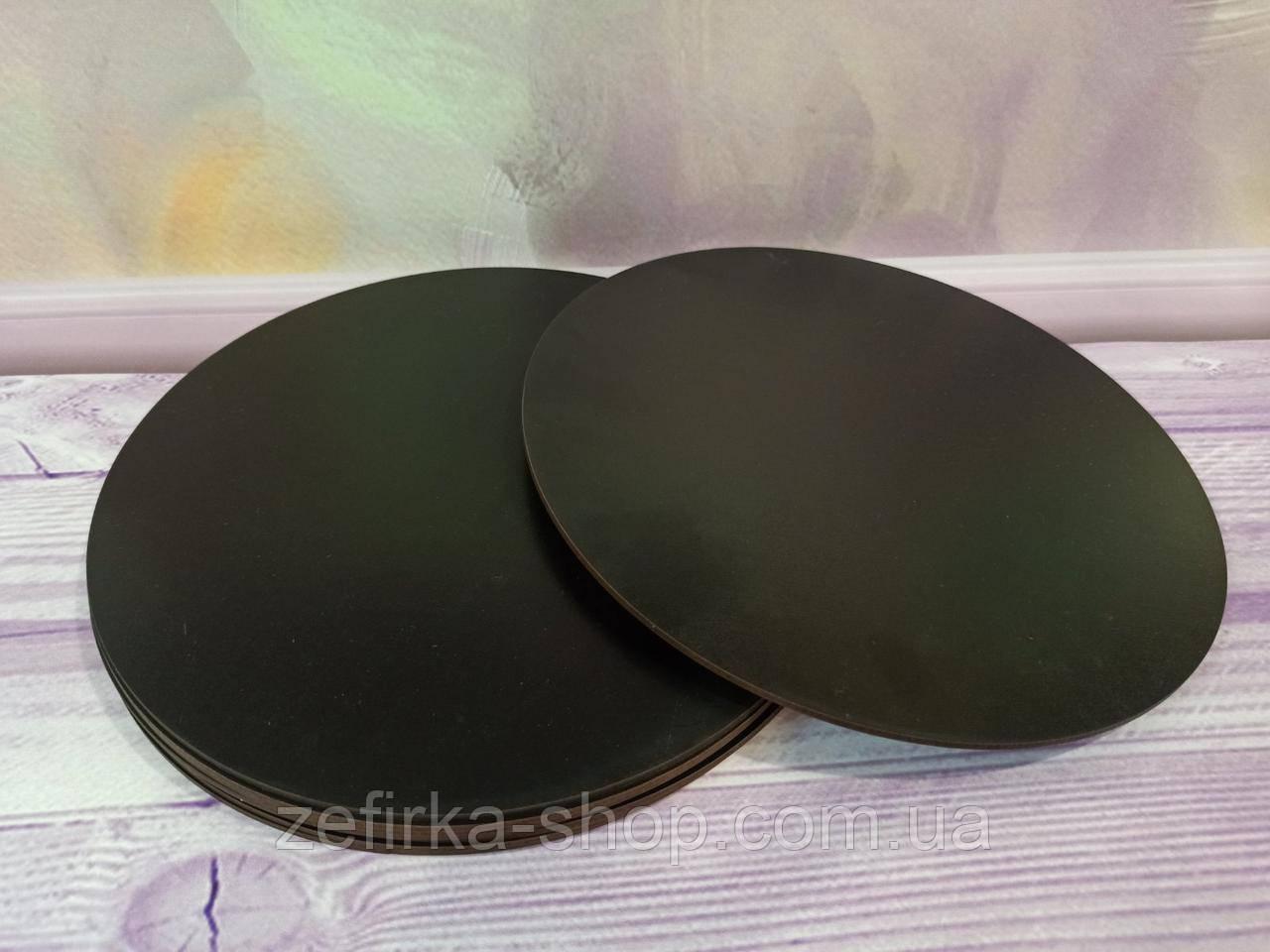 Подложка под торт уплотненная ДВП, 25 см, черная