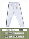 Брюки, трикотаж, белый, Моне, р. 110, 116, 134, 140, 158, фото 2