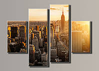 Картина модульная HolstArt New York City 6 77*102см 4 модуля арт.HAF-051