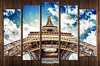 Картина модульная HolstArt Эйфелева башня 85*130см 5 модулей арт.HAB-230