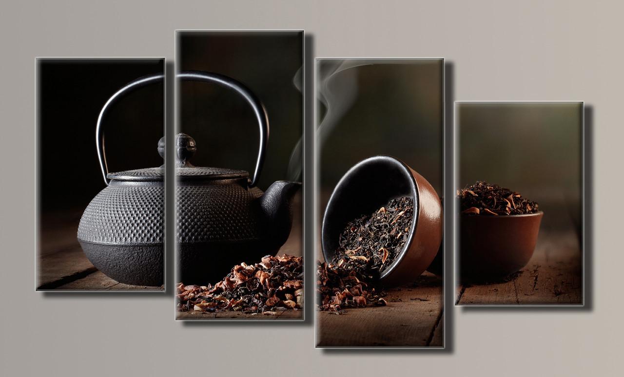 Картина модульна HolstArt Чай 59*102см 4 модуля арт.HAF-041