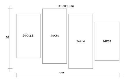 Картина модульна HolstArt Чай 59*102см 4 модуля арт.HAF-041, фото 2