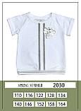Комплект топ + штани, трикотаж, білий, Моне, р. 116,140, 158, фото 2