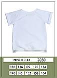 Комплект топ + штани, трикотаж, білий, Моне, р. 116,140, 158, фото 3