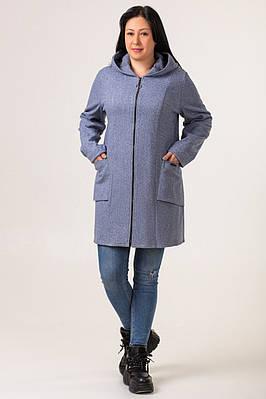 Кардиган большого размера  женский длинный 50-58 синий