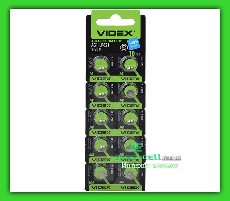 Часовая батарейка Videx AG1 / LR621/ G1/ LR60/ 164/ GP64A/ 364/ SR621W