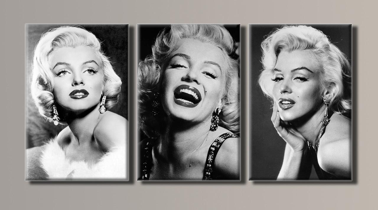 Картина модульна HolstArt Marilyn Monroe 54*111см 3 модуля арт.HAT-056