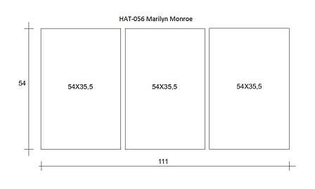 Картина модульна HolstArt Marilyn Monroe 54*111см 3 модуля арт.HAT-056, фото 2