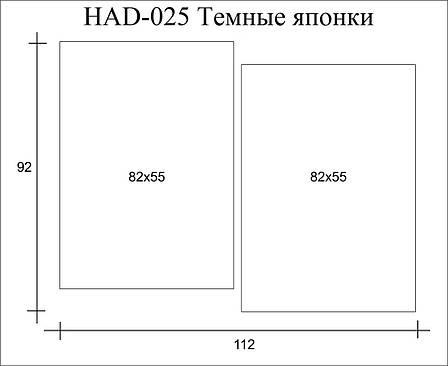 Картина модульна HolstArt Темні японки 92*112см 2 модуля арт.HAD-025, фото 2