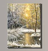 Картина (не раскраска) HolstArt Заснеженный лес 54*70,5см арт.HAS-386