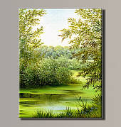 Картина (не раскраска) HolstArt Летний пейзаж 41*54см арт.HAS-389