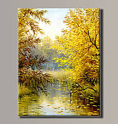 Картина (не раскраска) HolstArt Осенний пейзаж 54*70,5см арт.HAS-393