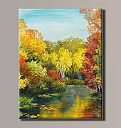 Картина (не раскраска) HolstArt Осенний пейзаж 54*70,5см арт.HAS-392