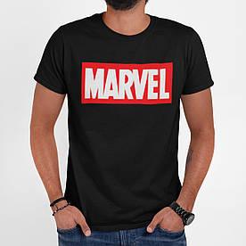"""Футболка чоловіча чорна з принтом """"Marvel"""" XL"""