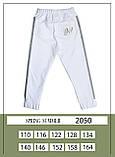 Комплект топ + штани, трикотаж, білий, Моне, р. 116,140, 158, фото 5