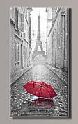 Картина HolstArt Красный зонтик в Париже 54*99,5см арт.HAS-412