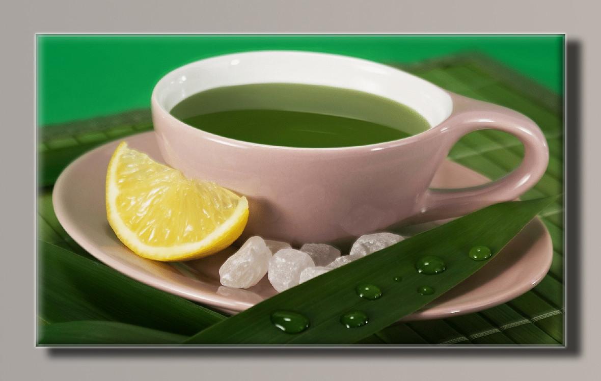 Картина HolstArt Зеленый чай 55*32,5см арт.HAS-152