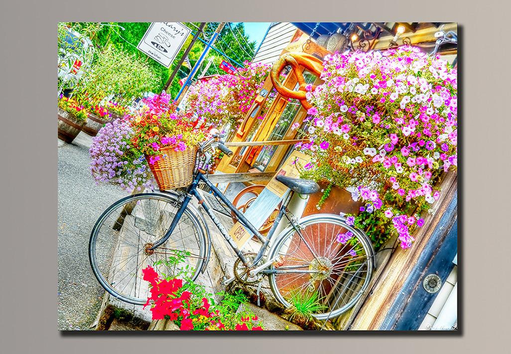 Картина HolstArt Велосипед в цветах 70*54см арт.HAS-030