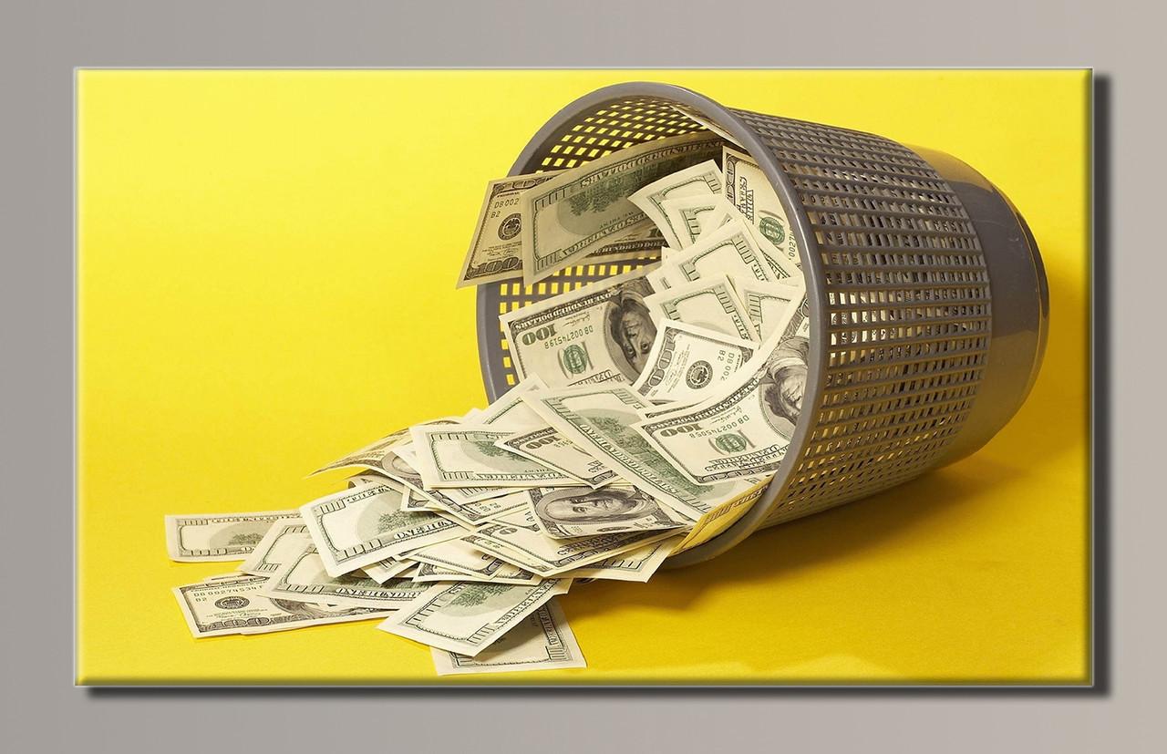 Картина HolstArt Доллары 89*54см арт.HAS-115