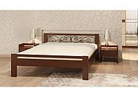 """Дерев'яне двоспальне ліжко 160х200 сосна """"Жасмін"""""""