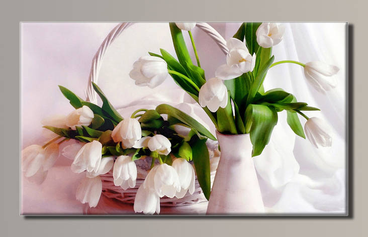 Картина (не розмальовка) HolstArt Тюльпани 54*32см арт.HAS-121, фото 2