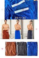 Полотенце Халат для мужчин килт на липучке 140х70 см Cупер плотность, фото 1