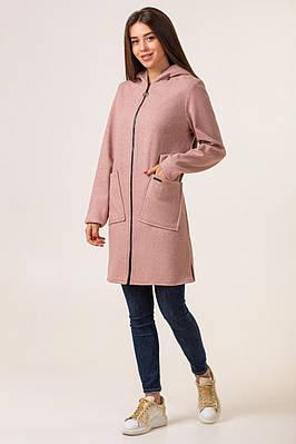 Теплый кардиган  женский модный 42-50 пудра