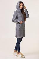 Кардиган женский длинный   модный 42-50 серый