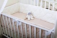 Защита-бортики Хлопковые традиции 180*30 см поплин в кроватку детские 1 шт арт.Карамельное суфле (Бельгийские)