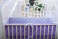 Защита-бортики Хлопковые традиции 180*30 см поплин в кроватку детские 2 шт арт.Звёздная Фантазия (Бельгийские)