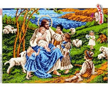 Схема для вишивки бісером Бисер-Арт Ісус і діти (692)