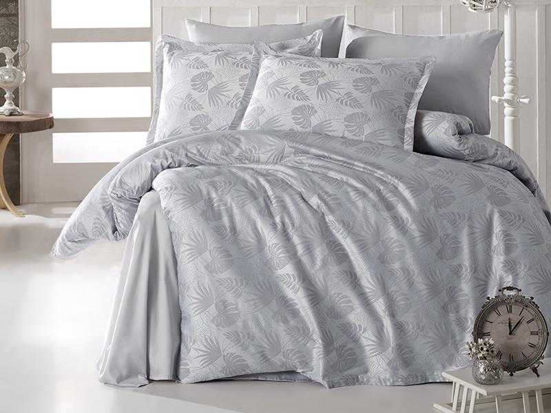Комплект постільної білизни Clasy Satin Jacquard Cotton сатин-жаккард Євро Grida_V1